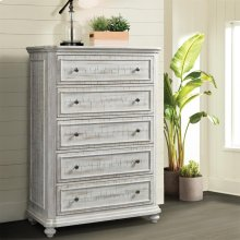 Madison - Five Drawer Chest - Rustic White Finish