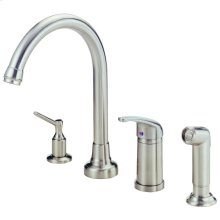Chrome Melrose® Single Handle High-Rise Kitchen Faucet