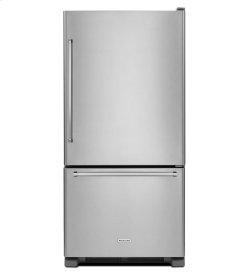 KitchenAid® 22 cu.ft. 33-Inch Width Full Depth Non Dispense Bottom Mount Refrigerator - Stainless Steel