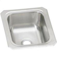 """Elkay Celebrity Stainless Steel 13"""" x 15"""" x 6-1/8"""", Single Bowl Drop-in Bar Sink"""