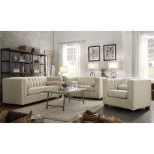 Cairns Transitional Beige Three-piece Living Room Set