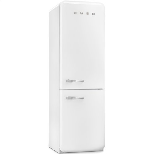 50'S Retro Style refrigerator with automatic freezer, White, Right hand hinge