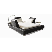 Bridge Queen bed upholstered