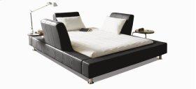 Bridge Queen bed upholstered