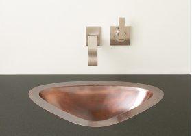 Luna Self-rimming or Undermount Sink Antique Light Copper