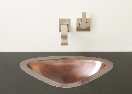 Luna Self-rimming or Undermount Sink Antique Light Copper