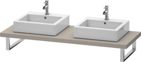 Console For Above-counter Basin And Vanity Basin, Basalt Matt (decor)