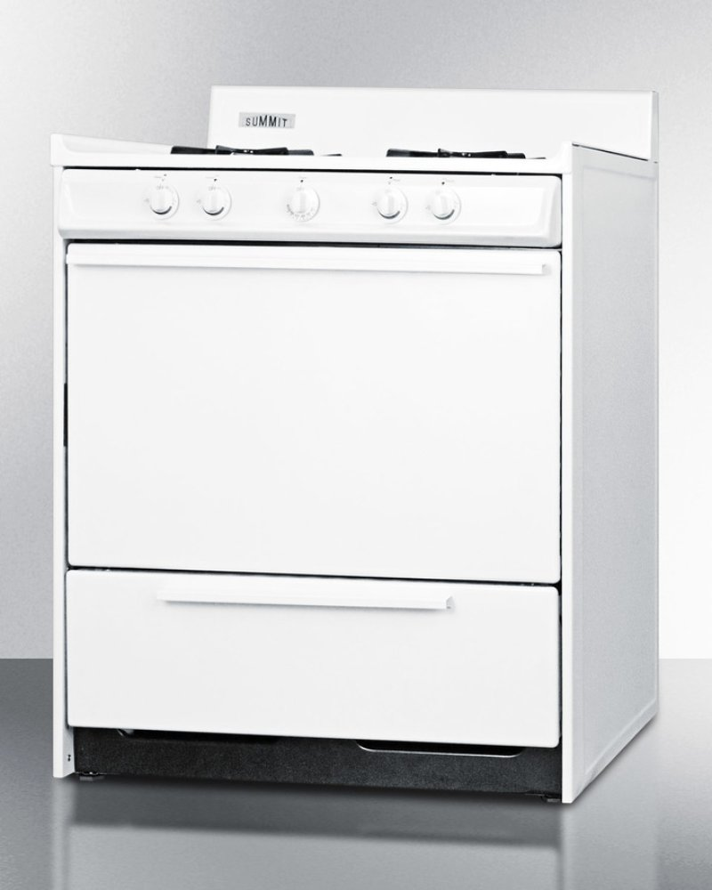 WNM2107 in by Summit in Brooklyn - White Gas Range With Electronic ...