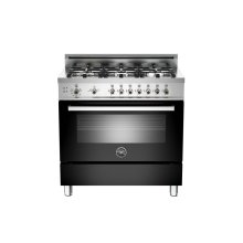 36 6-Burner, Gas Oven Black