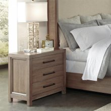 Mirabelle - Three Drawer Nightstand - Ecru Finish
