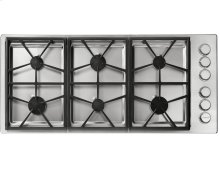 "46"" Heritage Pro Gas Cooktop-SS Liquid Propane High Alt."