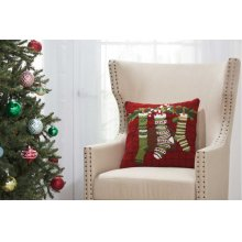 """Home for the Holiday Yx110 Multicolor 18"""" X 18"""" Throw Pillows"""