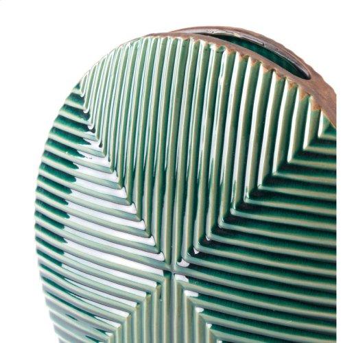Green Round Vase Green