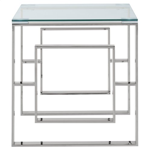 Eros Accent Table in Silver