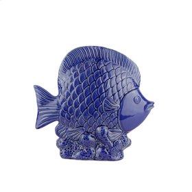 """Ceramic Fish DECOR,11.5"""",BLUE"""