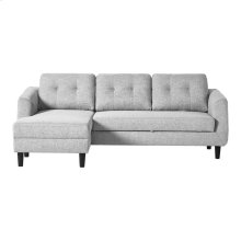 Belagio Sofabed With Chaise Light Grey Left