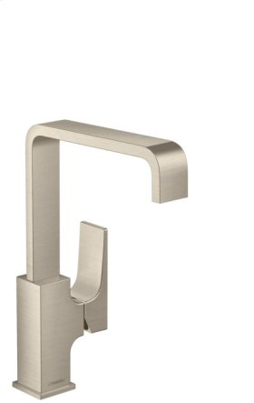 Brushed Nickel Metropol 230 Single-Hole Faucet with Lever Handle, 1.2 GPM