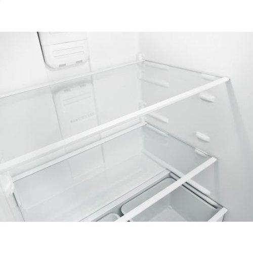 30-inch Wide Top-Freezer Refrigerator with Gallon Door Storage Bins - 18 cu. ft. - black