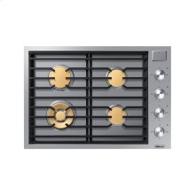 "30"" Drop-In Gas Cooktop, Stainless Steel, Natural Gas"
