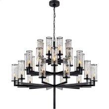 Visual Comfort KW5202BZ-CRG Kelly Wearstler Liaison 32 Light 48 inch Bronze Chandelier Ceiling Light, Kelly Wearstler, Triple-Tier, Crackle Glass