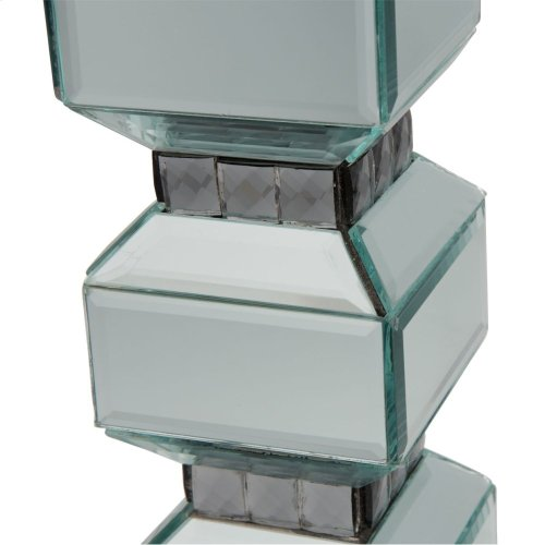 3-tier Mirrored Candle Holder W/crystal Accents (2/pack)
