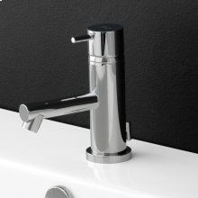 "Deck-mount single-hole faucet with pop-up and lever, 4"" spout projection. Warter flow rate: 1 gpm pressure compensating aerator. ADA compliant"