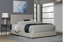 Duggan Bed Queen - Light Linen Gray Fabric