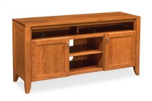 Justine TV Stand with Soundbar Shelf, Justine TV Stand with Soundbar Shelf, Medium