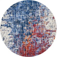 Twilight Twi25 Red/blue Round Rug 8' X 8'