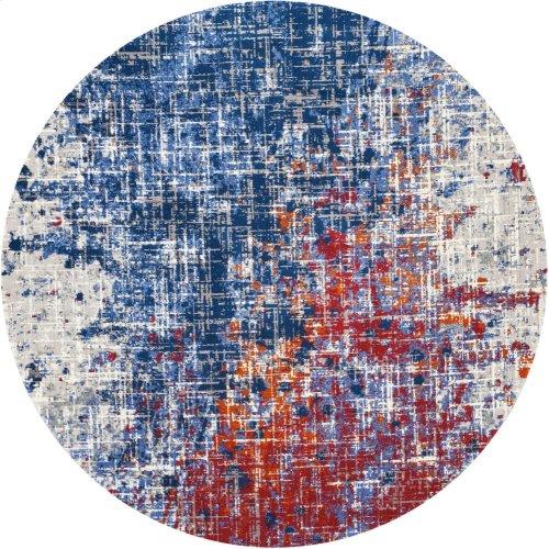 Twilight Twi25 Red/blue Round Rug 8' X 8'