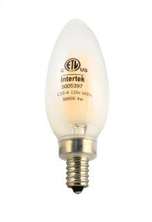 LED Filament 4W E12 Candelabra 3000K