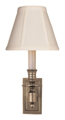 Visual Comfort S2210AN-T Studio French 1 Light 6 inch Antique Nickel Decorative Wall Light in Tissue Silk