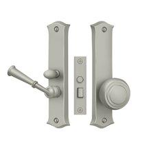 Storm Door Latch, Classic, Mortise Lock - Brushed Nickel
