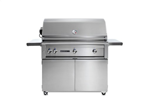 """42"""" Sedona by Lynx Freestanding Grill with 2 Stainless Steel Burners and ProSear Burner and Rotisserie, NG"""
