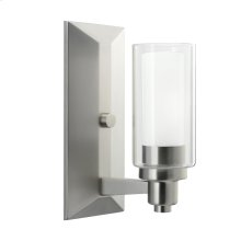 Circolo Collection Circolo 1 Light Wall Sconce - Brushed Nickel