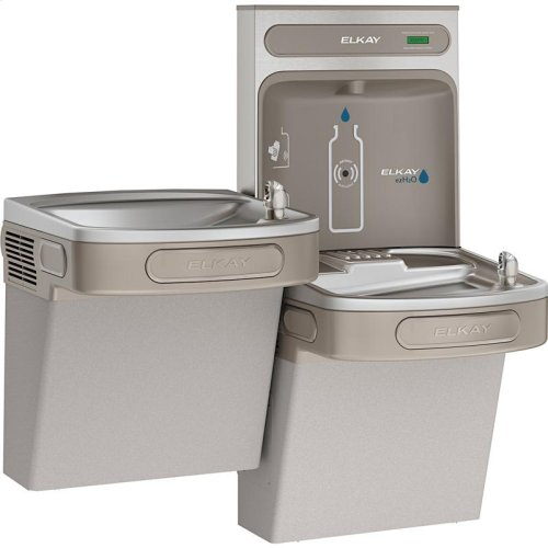 Elkay EZH2O Bottle Filling Station & Versatile Bi-Level ADA Cooler, Non-Filtered Non-Refrigerated Light Gray