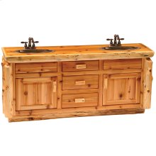 Custom Vanity Base - Custom Size - Natural Cedar