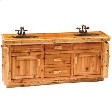 Custom Vanity Base - Custom Size - Natural Cedar