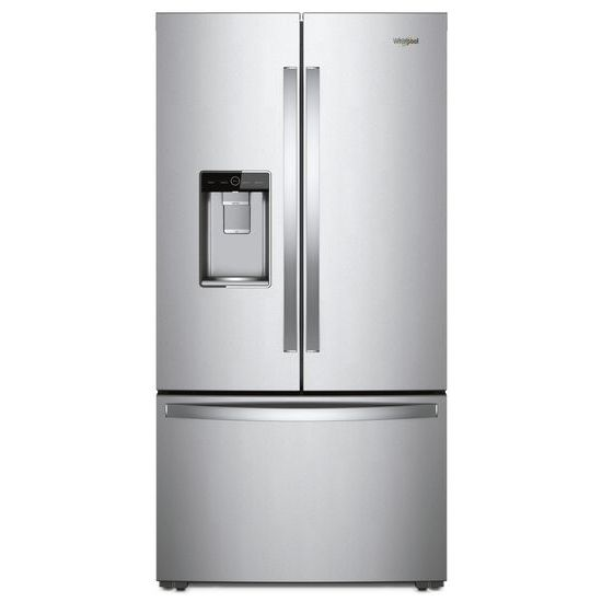 Whirlpool 36 Inch Wide Counter Depth French Door Refrigerator 24 Cu Ft Monochromatic Stainless Steel