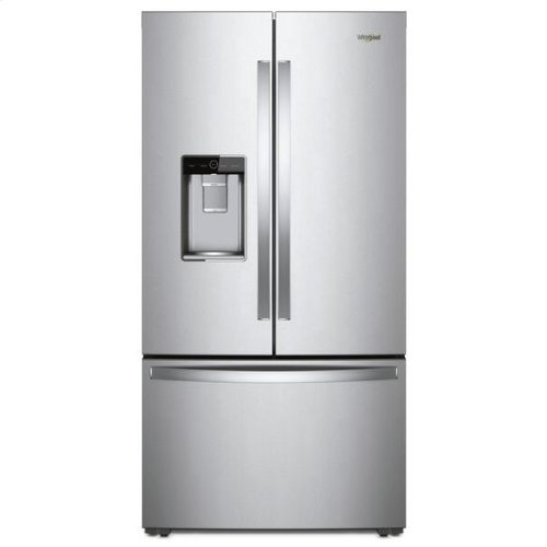 Whirlpool® 36-inch Wide Counter Depth French Door Refrigerator - 24 cu. ft. - Monochromatic Stainless Steel