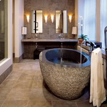Oval Bathtub 72 Inch / Blue Gray Granite