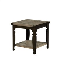 Emerald Home Valencia Square End Table-natural Reclaimed Pine Finish With Black Metal Legs T559-01