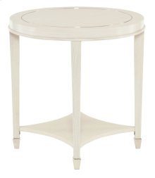 Criteria Round End Table in Pale Ivory (363)