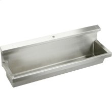 "Elkay Stainless Steel 48"" x 14"" x 8"", Wall Hung Multiple Station Urinal Kit"