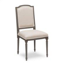 *Louis Xvi Squared Side Chair,Grey,Flax