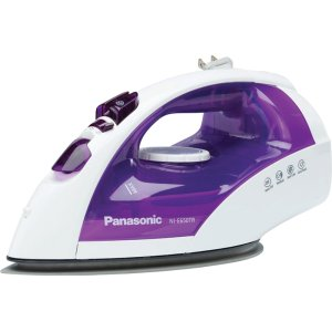 PANASONICSteam/Dry Iron with Titanium, Non-Stick Coated Curved Soleplate NI-E650TR