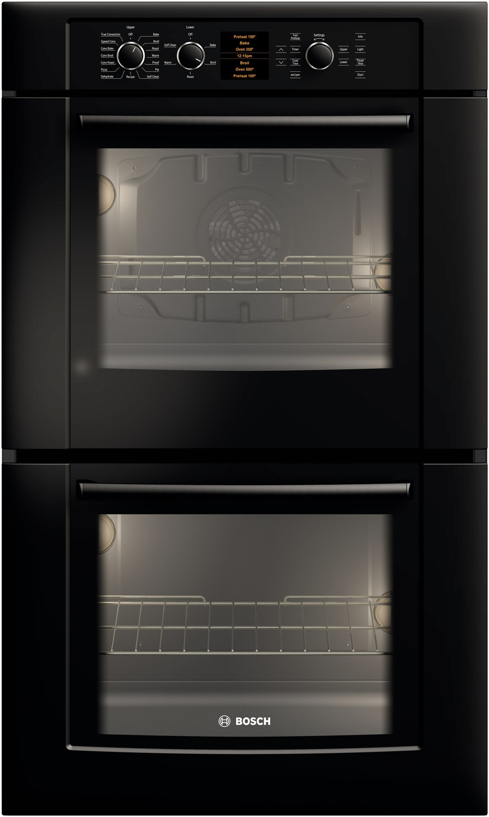 30 Double Wall Oven 500 Series Black