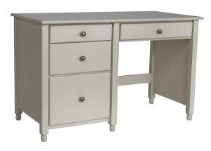 """Cottage 4 Drawer Desk -24"""" Deep, Drawers On Left"""