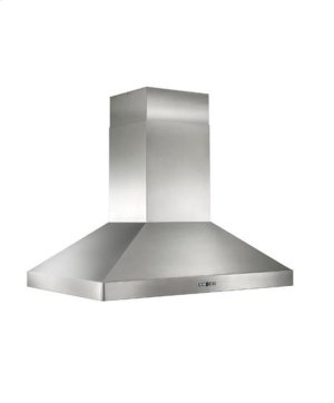 "Colonne Island - 42"" x 30"" Stainless Steel Island Range Hood with a choice of External or In-line blowers"