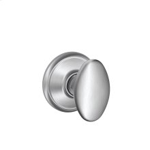 Siena Knob Hall & Closet Lock - Satin Chrome